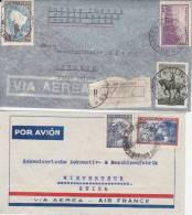 ARGENTINE LOT DE 4 LETTRES DES ANNEES 1944 A 1962  - - Argentina
