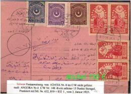 TURKEY , EARLY OTTOMAN SPECIALIZED FOR SPECIALIST, SEE....Mi. Nr. 835 Auf Postanweisung Mit Seltenen Stempeln -R-. - 1921-... Republic