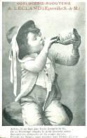 N°28828 -cpa Publicitaire -horlogerie A. Lecland à Egreville- RRR- - Advertising