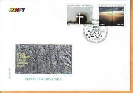 Croatia 1995 Y FDC History Tragedies Bleiburg Mi No 321-22 Postmark Zagreb 15.05.1995. - Croazia
