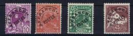Algerie    Preobl. Nr 9 - 12 MH/* , Le 25 Cent. Est MNH/** !! - Algerien (1924-1962)