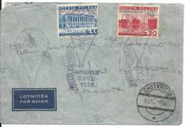 30.VIII. 1936. GORDON-BENNETT  BALLOON RACE WARSZAWA--CHOTYNICZE - Poste Aérienne