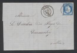 PUY DE DOME THIERS Type 17 Du 30 Juin 1876 Sur N° 60  Pour COMMENTRY TTB - Postmark Collection (Covers)
