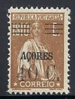 130100424  AZOR C.P.  YVERT   Nº  305  *  MH - Azores