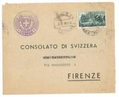 $3-2488 1956 TRAFORO SEMPIONE £25 ISOLATO - 1946-60: Storia Postale