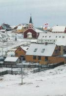 Greenland - Town With Greenlandic And Danish Flags.  B-2573 - Greenland