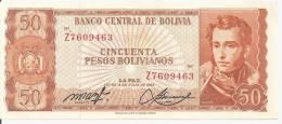 BOLIVIE 50 PESOS  BOLIVIANOS  L1962  XF+ P 162 - Bolivie