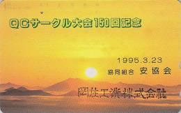 Télécarte Japon / 110-200 - ** ONE PUNCH ** - Coucher De Soleil - Sunset Japan Phonecard  - Sonnenuntergang - MD 599 - Landschappen