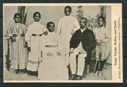Swedish East Africa Missionery - Pastor Twoldo Medhen & Family  Evangelical Fosterlands Stiftelsens Mission Postcard - Missions