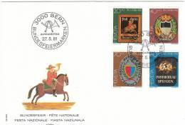 SVIZZERA HELVETIA 1981 PRO PATRIA FESTA NAZIONALE FDC - Pro Patria