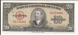Cuba - 20 Pesos - 1958 - P80b - AU - Cuba