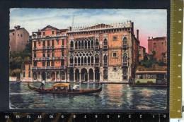 D2303 Venezia - Ca D´ Oro - Barca, Boat, Barque - Annullo Storia Postale , Cauche : Panettone Motta 1950 - Venezia (Venice)