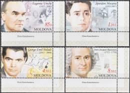 MOLDOVA, 2012, Personalities, Set Of 4, MNH (**), Mi 809-12 - Moldawien (Moldau)
