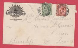 """Grande-Bretagne.Obl""""Park House.Camp B.O.Salisbury""""1919.sur Lettre Entete Australian Military Forces. - Poststempel"""