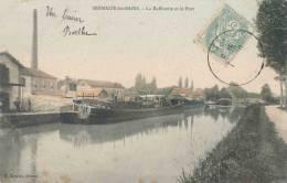 51.Sermaize Les Bains La Raffinerie Et Le Port Rare Cliche - Sermaize-les-Bains