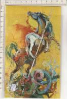 PO7199B# SAN GIORGIO PATRONO DEI CAVALIERI (MICHELE BARETTA) - MUSEO NAZ.ARMA DI CAVALLERIA - PINEROLO - CAVALLO   No VG - Pittura & Quadri