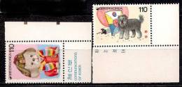 R. Korea. 1993. Mint Y&T 1620-21. Comics - Korea, South