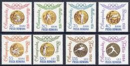 ROMANIA 1964 Olympic Medal Winners Perforated Set  MNH / **.  Michel 2345-52 - 1948-.... Republics