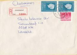Nederland - Aangetekend/Recommandé Brief Vertrek Dordrecht - Aantekenstrookje Dordrecht 1200 - Poststempel
