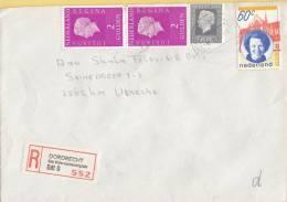 Nederland - Aangetekend/Recommandé Brief Vertrek Dordrecht - Aantekenstrookje Dordrecht Van Oldenbarneveltplein 552 - Poststempel