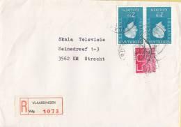 Nederland- Aangetekend/Recommandé Brief Vertrek Vlaardingen - Aantekenstrookje Vlaardingen 1073 - Poststempels/ Marcofilie
