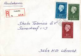 Nederland- Aangetekend/Recommandé Brief Vertrek Tilburg - Aantekenstrookje Tilburg 454 - Poststempel