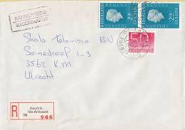 Nederland- Aangetekend/Recommandé Brief Vertrek Hendrik Ido-Ambacht - Aantekenstrookje Hendrik Ido-Ambacht 946 - Poststempel