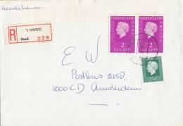 Nederland- Aangetekend/Recommandé Brief Vertrek ´t Harde - Aantekenstrookje ´t Harde 229 - Poststempel