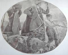 PRIMI 900 - PASTORI - RITAGLIO CIRCOLARE  - EX LIBRIS C1900 - SHEPERDS - Ex-libris