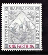 Barbados, 1897-98, SG 116, Mint Hinged - Barbades (...-1966)