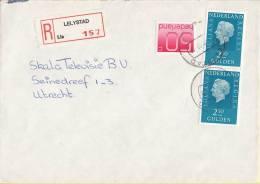 Nederland - Aangetekend/Recommandé Brief Vertrek Lelystad - Aantekenstrookje Lelystad 157 - Poststempel
