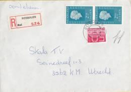 Nederland - Aangetekend/Recommandé Brief Vertrek Rosmalen - Aantekenstrookje Rosmalen 526 - Poststempel
