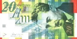 ISRAEL 2001 - NIS 20 - Moshe Sharett - Signed David Klein & Shlomo Lorincz - UNC - Israel