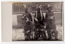 PHOTOGRAPHS CARNIVAL MASKS OF INDIANS OLD POSTCARD - Photographs