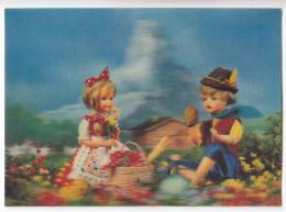 """CHILDREN PLAY TOYS FLOWERS """"3-D"""" CARD BIG POSTCARD - Other"""