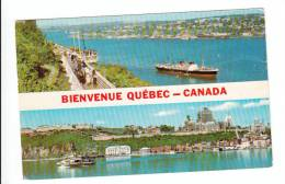 Québec P.Q. Qué. - Souvenir Greetings - Bateau Boat - Château Frontenac - Québec - Château Frontenac
