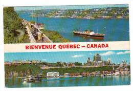 Québec P.Q. Qué. - Château Frontenac - Terrasse Dufferin - Animée - Bateau Boat - État : Beau - Voir 2 Scans - Québec - Château Frontenac