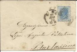ITALIA COMO 1872 CC A BARLASSIMA VICTOR MANUEL II - 1861-78 Vittorio Emanuele II