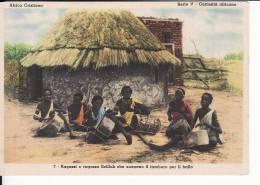 Africa Cristiana-Serie V-Curiosità Africane - Ragazzi E Ragazze Scilluk Che Suonano Il Tamburo Per Il Ballo- FG - NV - - Non Classificati
