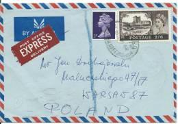1968     REG.LETTER   NOTTINGHAM--WARSAW. - Airmail