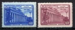 Russia 1954 Unif. 1721/22 **/MNH VF/F - 1923-1991 USSR