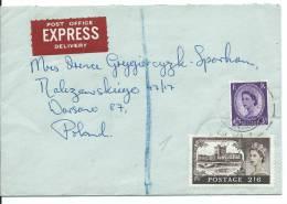 REG.LETTER NOTTINGHAM--WARSAW - Airmail
