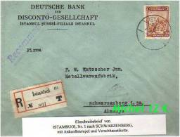 TURKEY , EARLY OTTOMAN SPECIALIZED FOR SPECIALIST, SEE....Mi. Nr. 907 Als EiF Auf E-Brief - 1921-... Republic