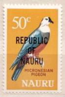 Nauru MNH Overprinted Stamp - Columbiformes