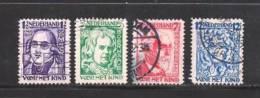 NEDERLAND 1928 Gebruikte Zegel(s) Geleerden 218-221 #671 - Period 1891-1948 (Wilhelmina)