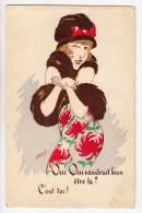 ILLUSTRATORS WUYTS A FANCY LADY HAT SERIE 34 OLD POSTCARD - Wuyts