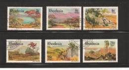 RHODESIA 1977 Landscapes Used 194-199 - Rhodesia (1964-1980)