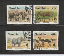 NAMIBIA 1993 CTO Stamp(s) NNF Animals 735-738 #7181 - Game