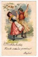 DANCE DANCERS CZARDAS THE HUNGARY DANCE OLD POSTCARD - Dance