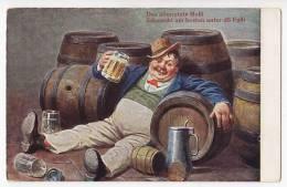 "HUMOUR BEER ""THE VERY LAST MASSI, TASTE THE BEST IN DÖ FASSI"" Nr. 3537 OLD POSTCARD - Humour"